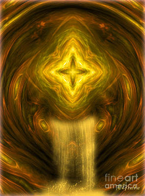 Nativity Digital Art - Fountain Of Faith - Abstract Art By Giada Rossi by Giada Rossi