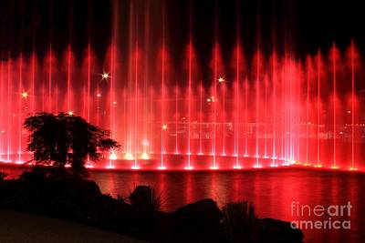 Fountain Of Red Print by Geraldine DeBoer