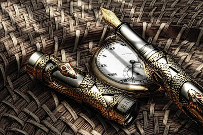 Watch Photograph - Fountain Pen Still Life by Tom Mc Nemar