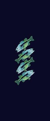 Four Bass Print by Jenny Armitage