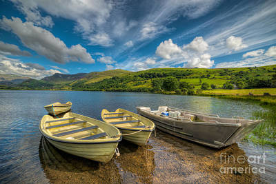 North Wales Digital Art - Four Boats by Adrian Evans