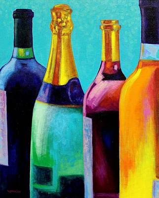 Four Bottles Print by John  Nolan