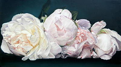 Painting - Four Buds 45.5 X 80 Cm by Thomas Darnell
