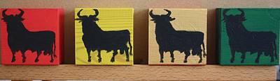 Four Bulls Original by Roger Cummiskey