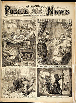 Four Crime Scenes Print by British Library