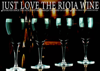 Four Glasses Of Rioja Wine Original by Toppart Sweden