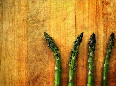 Asparagus Digital Art - Four In A Row by Michelle Calkins
