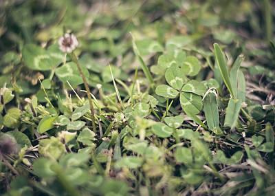 Faith Hope And Love Photograph - Four Leaf Clover by Heather Applegate