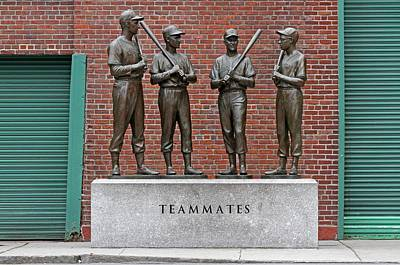 Fenway Park Photograph - Four Legends by Juergen Roth