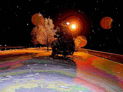 Four Moons At Keeneland Print by Christopher Hignite