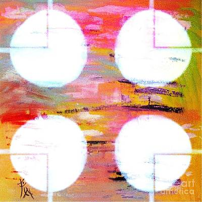 Interpretive Painting - Four Moons Palette by PainterArtist FIN