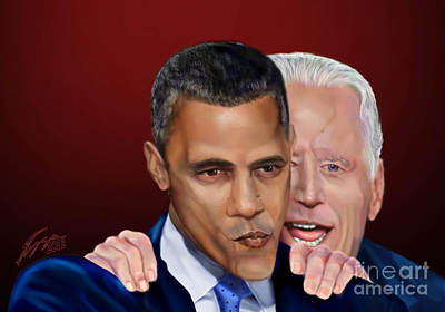Joe Biden Painting - Four More Baby by Reggie Duffie
