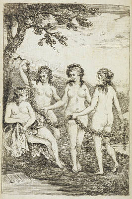 Pleasure Photograph - Four Naked Women by British Library