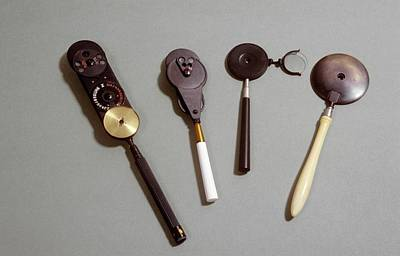 Nineteenth Century Photograph - Four Ophthalmoscopes by Science Photo Library