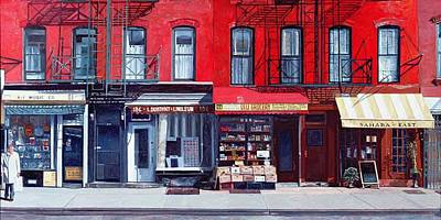 Storefront Painting - Four Shops On 11th Ave by Anthony Butera