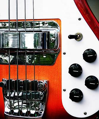 Four String Rickenbacker Bass  Print by Chris Berry