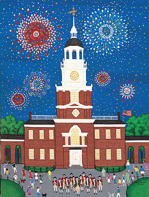 Independence Hall Painting - Fourth Of July At Independence Hall by Patricia Palermino