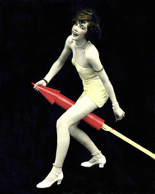Fused Photograph - Fourth Of July Rocket Girl by Underwood Archives