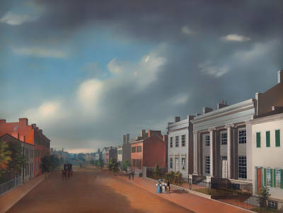 Cincinnati Ohio Painting - Fourth Street East From Vine by Mountain Dreams