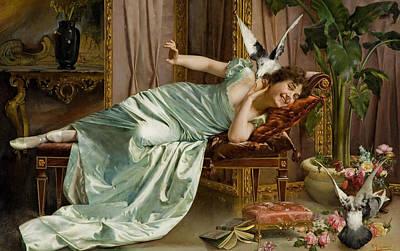 Freedom Painting - Fowl Play by Vittorio Reggianini
