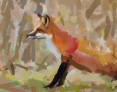 Fox Alarm Print by Yury Malkov