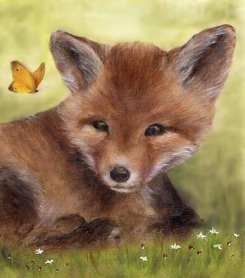 Fox Art Print Print by Junko Van Norman