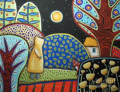 Fox Painting - Fox Encounter by Karla Gerard