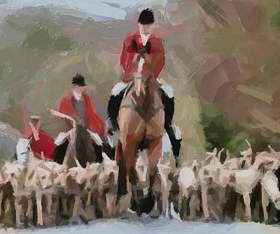 Fox Digital Art - Fox Hunting 4 by Yury Malkov