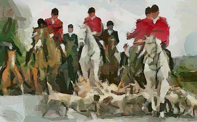 Fox Hunting 5 Print by Yury Malkov