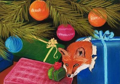 Pastels Painting - Fox In A Box by Anastasiya Malakhova