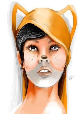 Bluejay Digital Art - FOX by Jason Longstreet