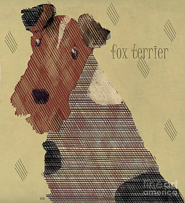 Pet Portraits Digital Art - Fox Terrier by Bri B