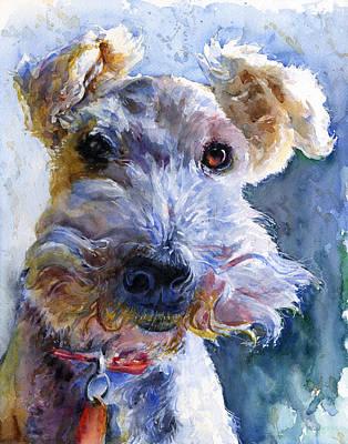 Fox Painting - Fox Terrier Full by John D Benson