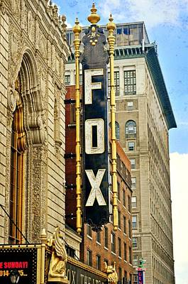 Photograph - Fox Theater 1 by Marty Koch