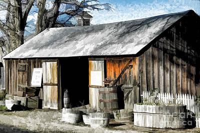 Central Coast Winery Photograph - Foxen Winery by Kathleen Gauthier