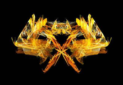 Creature Digital Art - Foxfire by R Thomas Brass