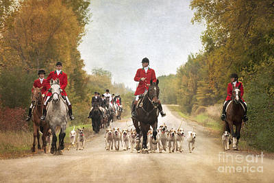 Foxhunting Print by Heather Swan