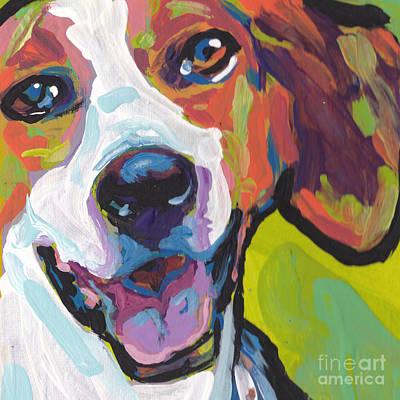 Lea Painting - Foxy American Hound by Lea S