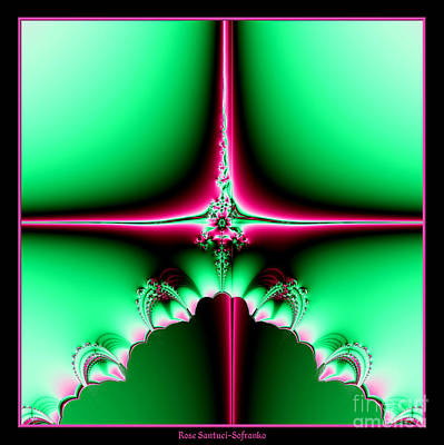 Fractal 14 Star Of Bethlehem  Print by Rose Santuci-Sofranko