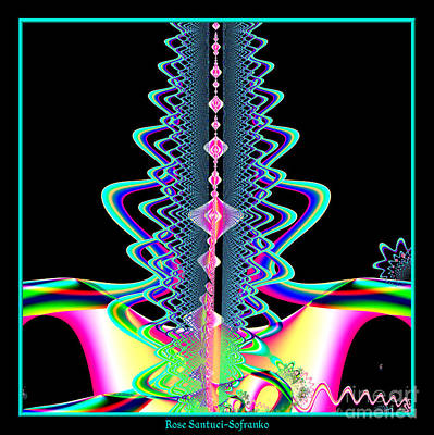 Abstract Digital Art - Fractal 21 Jeweled Plume by Rose Santuci-Sofranko