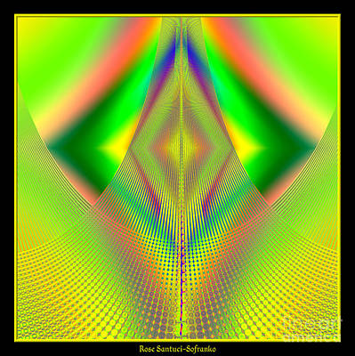 Fractal 32 Up Up And Away Print by Rose Santuci-Sofranko