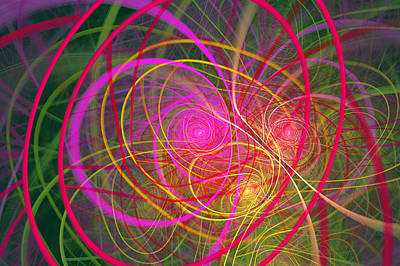 Suburban Digital Art - Fractal - Abstract - Loopy Doopy by Mike Savad
