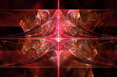 Fractal - Abstract - The Essecence Of Simplicity Print by Mike Savad