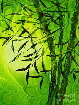Fractal Bamboo Print by Lutz Baar