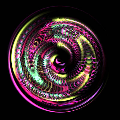 Fraktal Digital Art - Fractal Bubble 3 by Hakon Soreide