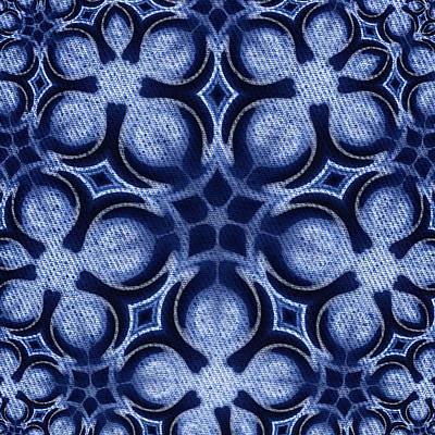 Fractal Floral Pattern Print by Hakon Soreide