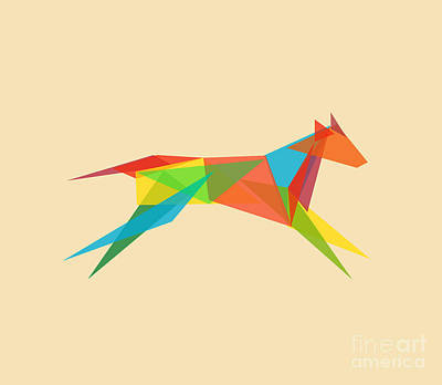 Geometric Dog Print by Nava Seas