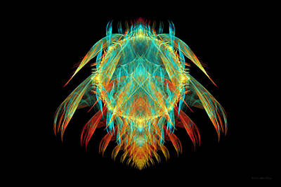 Suburban Digital Art - Fractal - Insect - I Found It In My Cereal by Mike Savad