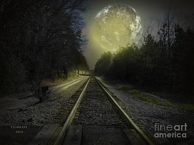 Fractal Photograph - Fractal Moon by Melissa Messick