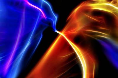 Outer Space Mixed Media - Fractal Nebula 2 by Steve Ohlsen